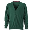 Men's V-Neck Cardigan James & Nicholson - forest green
