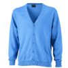 Men's V-Neck Cardigan James & Nicholson - glacier blue