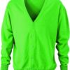 Men's V-Neck Cardigan James & Nicholson - green