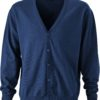 Men's V-Neck Cardigan James & Nicholson - navy