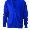 Men's V-Neck Cardigan James & Nicholson - royal