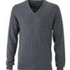 Men's Pullover James & Nicholson - anthracite melange