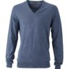 Ladies' Pullover James & Nicholson - denim melange