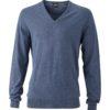 Men's Pullover James & Nicholson - denim melange