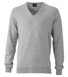 Ladies Pullover James & Nicholson JN664 - light grey melange