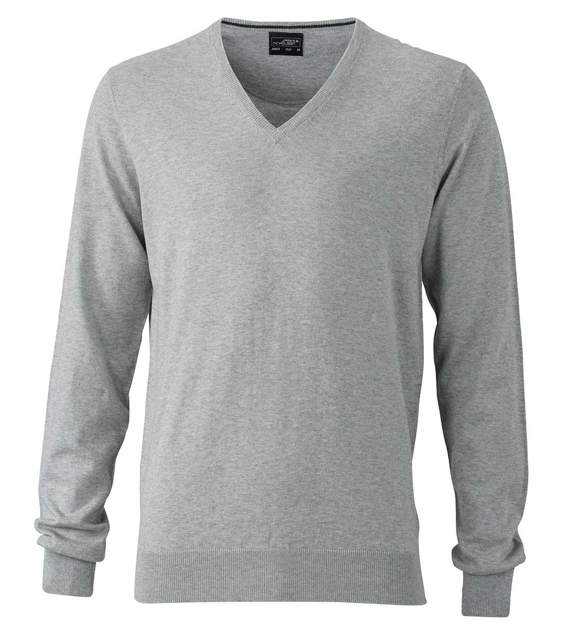 Ladies Pullover James & Nicholson JN664 - light grey melange