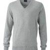 Men's Pullover James & Nicholson - light grey melange