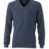 Ladies' Pullover James & Nicholson - navy melange