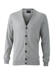 Men's Cardigan James & Nicholson - light grey melange