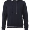 Ladies' Club Hoody James & Nicholson - navy white