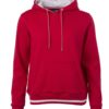 Ladies' Club Hoody James & Nicholson - red white