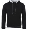 Men's Club Hoody James & Nicholson - black white