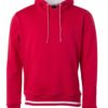 Men's Club Hoody James & Nicholson - red white