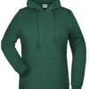 Basic Hoody Lady James & Nicholson - dark green