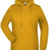 Basic Hoody Lady James & Nicholson - gold yellow