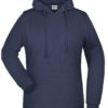Basic Hoody Lady James & Nicholson - navy
