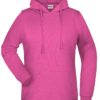 Basic Hoody Lady James & Nicholson - pink