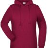 Basic Hoody Lady James & Nicholson - wine