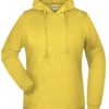 Basic Hoody Lady James & Nicholson - yellow