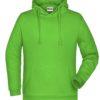 Basic Hoody Man James & Nicholson - lime green