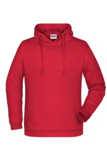Basic Hoody Man James & Nicholson - red