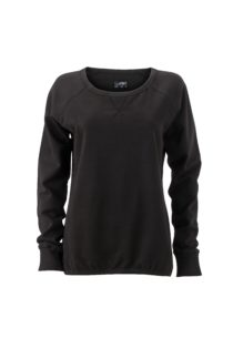 Ladies' Basic Raglan Sweat James & Nicholson - black