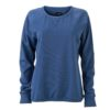 Ladies' Basic Raglan Sweat James & Nicholson - denim