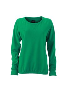 Ladies' Basic Raglan Sweat James & Nicholson - simply green