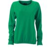 Ladies' Basic Raglan Sweat James & Nicholson - simply green
