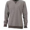 Men's Basic Raglan Sweat James & Nicholson - grey melange black melange