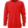 Men's Basic Raglan Sweat James & Nicholson - red