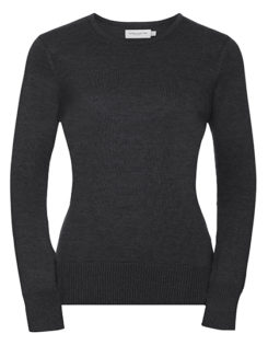 Ladies' Crew Neck Knitted Pullover Russell - charcoal