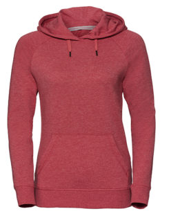 Ladies' HD Hooded Sweat Russell - red