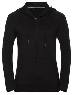 Ladies' HD Zipped Hood Sweat Russell - black