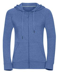 Ladies' HD Zipped Hood Sweat Russell - blue