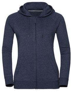 Ladies' HD Zipped Hood Sweat Russell - bright navy