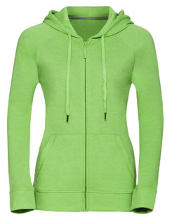 Ladies' HD Zipped Hood Sweat Russell - green