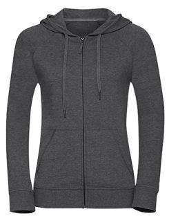 Ladies' HD Zipped Hood Sweat Russell - grey
