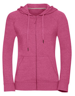Ladies' HD Zipped Hood Sweat Russell - pink