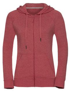 Ladies' HD Zipped Hood Sweat Russell - red