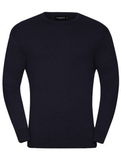 Men's Crew Neck Knitted Pullover Russell - French Navy