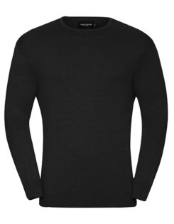 Men's Crew Neck Knitted Pullover Russell - black
