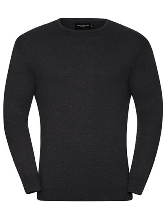 Men's Crew Neck Knitted Pullover Russell - charcoal