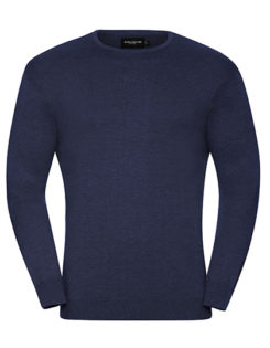 Men's Crew Neck Knitted Pullover Russell - denim