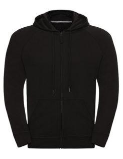 Men's HD Zipped Hood Sweat Russell - black