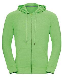 Men's HD Zipped Hood Sweat Russell - green