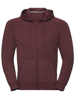 Men's HD Zipped Hood Sweat Russell - maroon