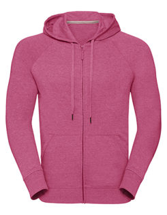 Men's HD Zipped Hood Sweat Russell - pink