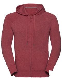 Men's HD Zipped Hood Sweat Russell - red