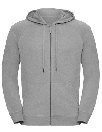 Men's HD Zipped Hood Sweat Russell - silver
